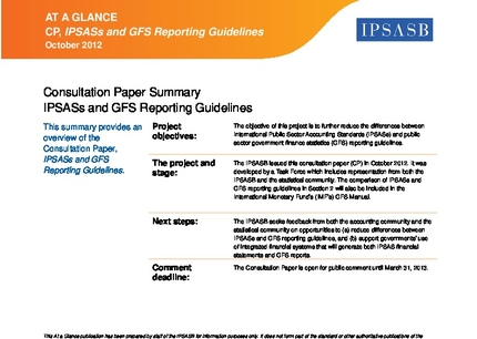 IPSASs and Government Finance Statistics Reporting Guidelines | IFAC