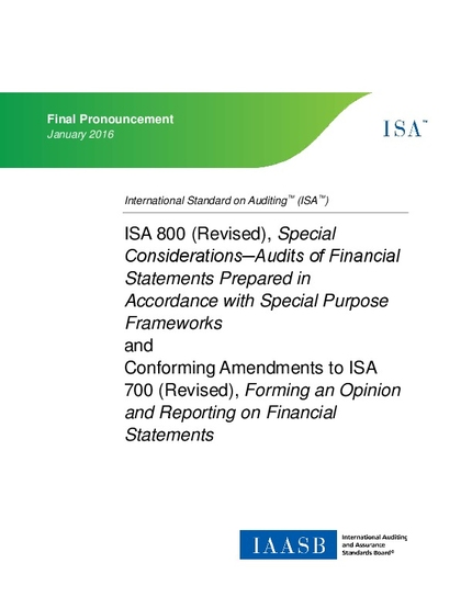 ISA 800 (Revised), Special Considerations─Audits of