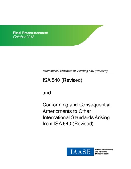 ISA 540 (Revised), Auditing Accounting Estimates and Related